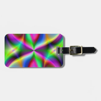 Colorful Metallic Fractal Lustre Luggage Tag