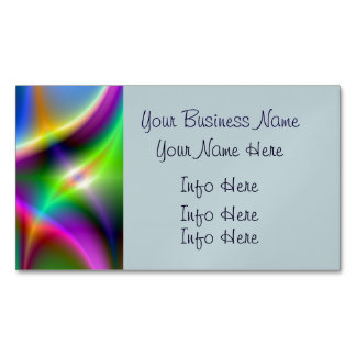 Colorful Metallic Fractal Lustre Magnetic Business Card