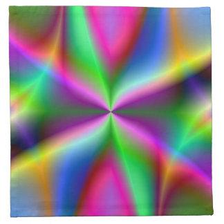 Colorful Metallic Fractal Lustre Napkin