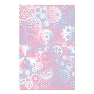 Colorful metallic gears personalized stationery