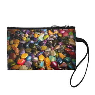 Colorful Metallic Stones Coin Purse