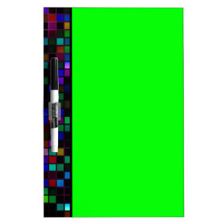 Colorful Meteor Shower Squares Pattern Dry Erase Whiteboards