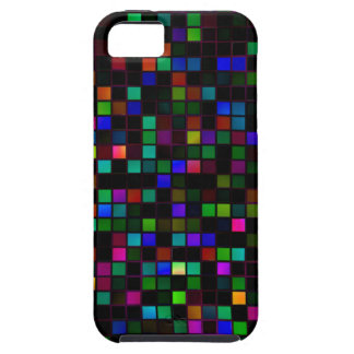 Colorful 'Meteor Shower' Squares Pattern iPhone 5 Cover