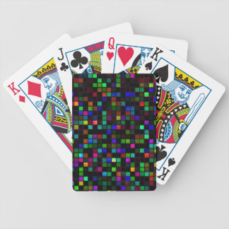 Colorful Meteor Shower Squares Pattern Bicycle Card Deck