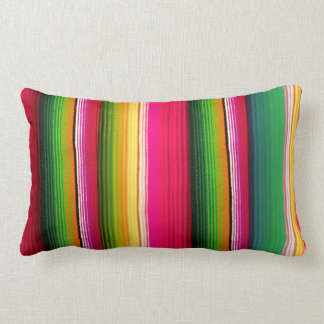 colorful mexican style lumbar pillow