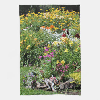 Colorful Mid Summer Gardens! Tea Towel