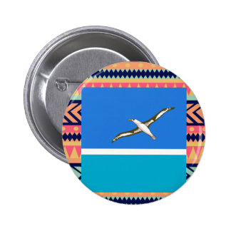 Colorful Midway Islands Flag Box 6 Cm Round Badge