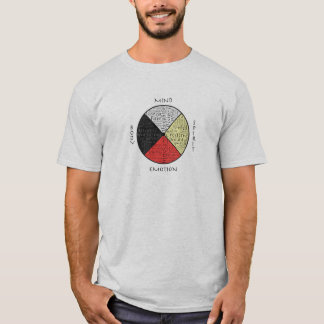 Colorful Mind Body Spirit Medicine Wheel T-Shirt