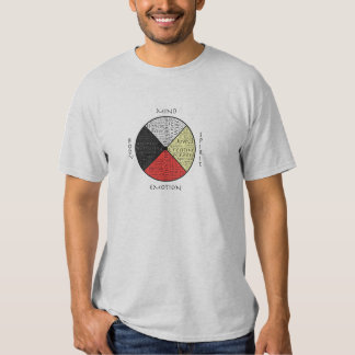 Colorful Mind Body Spirit Medicine Wheel Tee Shirt