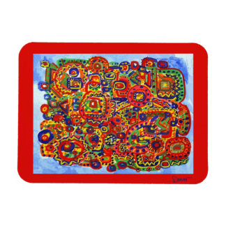 Colorful Mind Rectangular Photo Magnet