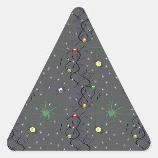 Colorful Mini Spiders Triangle Sticker