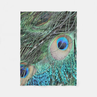 Colorful Mix of The Peacock Fleece Blanket