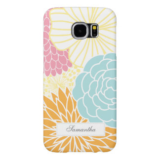 Colorful Mod Florals Samsung Galaxy S6 Cases