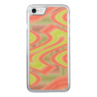 Colorful Mod Lime Green Abstract Carved iPhone 7 Case