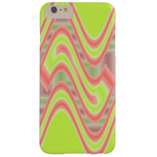 Colorful Mod Lime Green Abstract Barely There iPhone 6 Plus Case