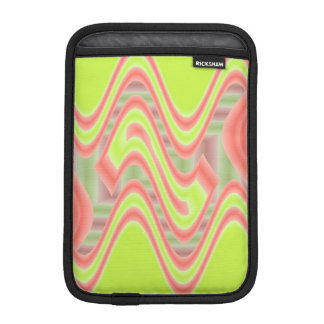 Colorful Mod Lime Green Abstract iPad Mini Sleeves