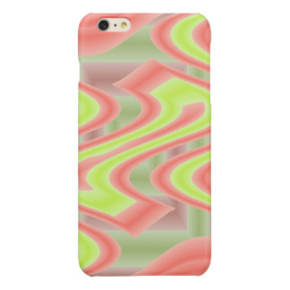 Colorful Mod Lime Green Abstract iPhone 6 Plus Case