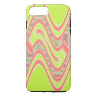 Colorful Mod Lime Green Abstract iPhone 7 Plus Case