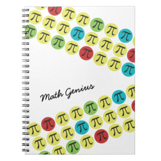 Colorful Mod Pi Day Gift Note Books