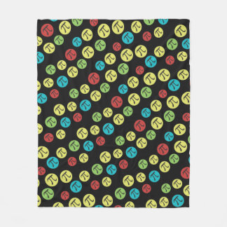 Colorful Mod Pi Symbols Fleece Blanket