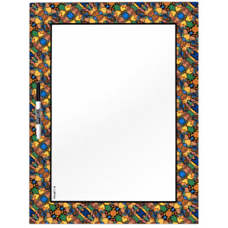 Colorful Modern Abstract Border Dry Erase Board