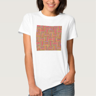 Colorful modern abstract crosshatch pattern t-shirts