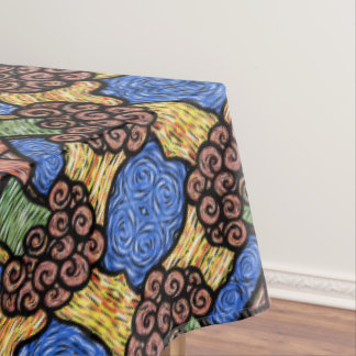 Colorful Modern Abstract Floral Pattern Tablecloth