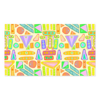 Colorful modern abstract painting repeated pattern business card