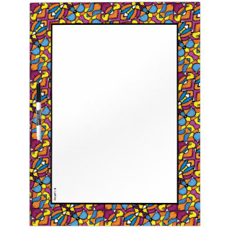 Colorful Modern Abstract Pattern Dry Erase Board