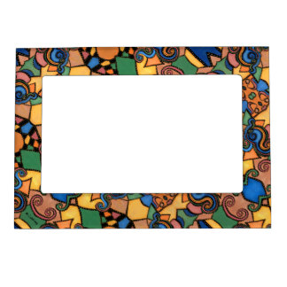 Colorful Modern Abstract Pattern Magnetic Picture Frame