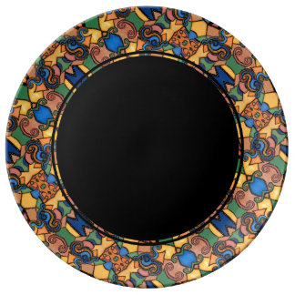 Colorful Modern Abstract Pattern Plate