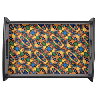 Colorful Modern Abstract Pattern Serving Tray