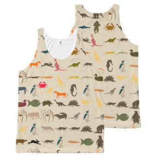 Colorful Modern Animals #14 All-Over Print Tank Top