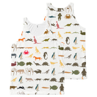 Colorful Modern Animals #3 All-Over Print Tank Top