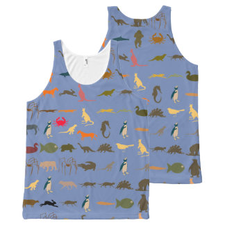 Colorful Modern Animals #8 All-Over Print Tank Top