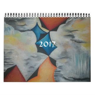 COLORFUL MODERN ART 2017 CALENDAR