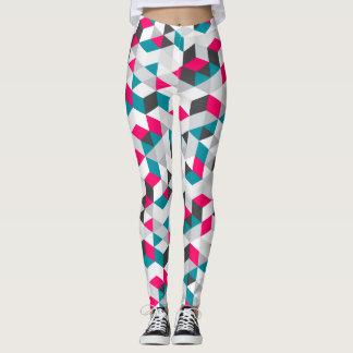 Colorful Modern Geometric Abstract Pattern Leggings