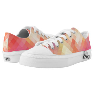 Colorful Modern Geometric Diamond Pattern #10 Printed Shoes