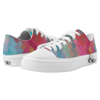 Colorful Modern Geometric Diamond Pattern #2 Printed Shoes