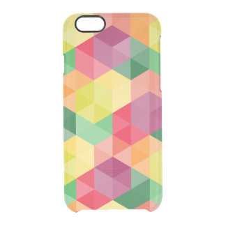 Colorful Modern Geometric Pattern Clear iPhone 6/6S Case