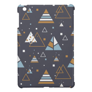 Colorful Modern Geometric Triangles Pattern iPad Mini Covers