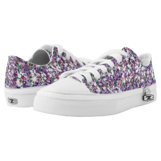 Colorful Modern Glitter Texture Print Low Tops