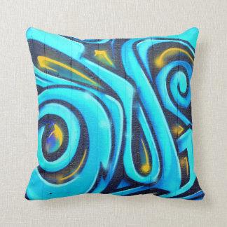 Colorful Modern Graffiti Street Art Painting Cushion