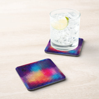 Colorful Modern Mosaic Geometric Pattern Coaster