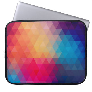 Colorful Modern Mosaic Geometric Pattern Computer Sleeve