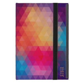 Colorful Modern Mosaic Geometric Pattern iPad Mini Cover
