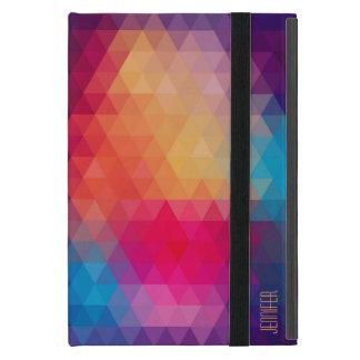 Colorful Modern Mosaic Geometric Pattern iPad Mini Cover