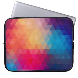 Colorful Modern Mosaic Geometric Pattern Laptop Sleeve