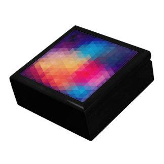 Colorful Modern Mosaic Geometric Pattern Large Square Gift Box