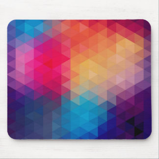 Colorful Modern Mosaic Geometric Pattern Mouse Pad